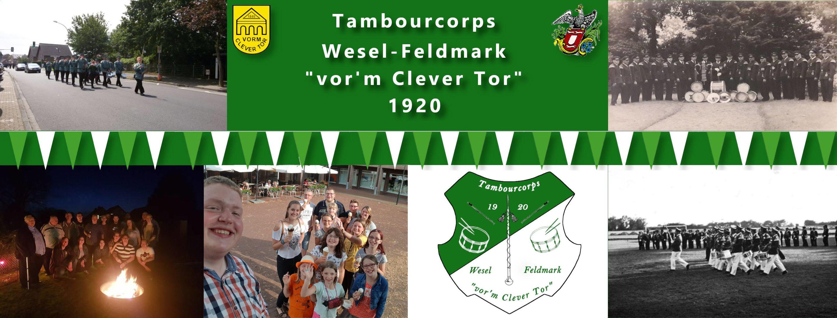Aktuell | Tambourcorps Wesel-Feldmark vor'm Clever Tor 1920